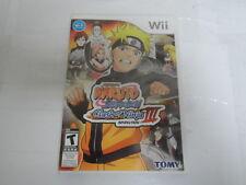 Naruto Shippuden: Clash of Ninja Revolution III (Nintendo Wii, 2009) 8897-1 GB-1
