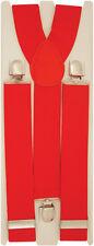 Adult Mens Adjustable Plain Wide Trousers Braces Availabe is various colours