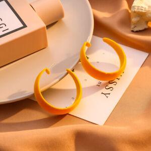 Vintage Round Earrings Women Simple Geometric Hoop Ear Stud Earrings Jewelry