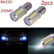 2X White BA15D P21W 1157 33SMD 5630 12V LED Car Reverse Backup Lamp Bulb MU