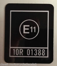 "KAWASAKI Z1100R ""E11"" HEADSTOCK CAUTION WARNING DECAL"
