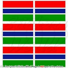 GAMBIA Flag Commonwealth, Africa Gambian Mobile Cell Phone Mini Sticker,Decal x6