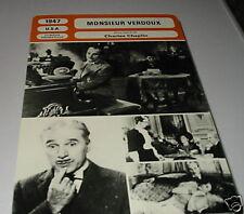 A- monsieur verdoux French film trade card