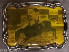 Pewter Belt Buckle Rodeo Bronco Busting NEW