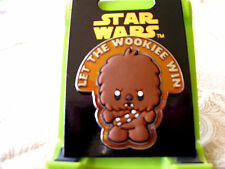 Disney* STAR WARS - CUTE CHEWBACCA - LET THE WOOKIEE WIN *New on Card Wookie Pin