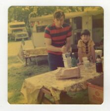 Vintage Photo Man Greaser Dad Cigarette Picnic RC Cola RV 1970's A8