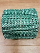 24 Row sea green Diamonte Crystal Effect Rhinestone Cake Decoration Ribbon Mesh
