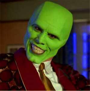 The Mask Movie Jim Carrey Cosplay Halloween Party Funcy Dress Mask