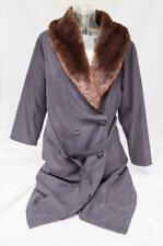 Ladies Four Seasons Black Overcoat Coat with Faux Fur Collar UK 10 Petite CT60