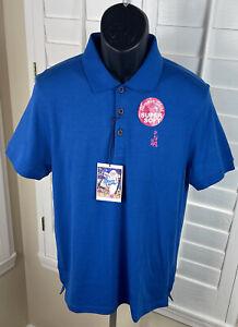 Elvis Presley Blue Hawaii Blue Super Soft Polo Shirt - Men's Size Medium - NWT