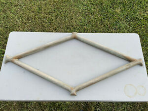 """RARE 1920s-40s, F. W. WOOLWORTH METAL STORE SIGN FRAME, DIAMOND SHAPE, 45"""" X 21"""""""