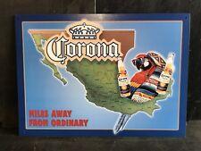 Corona Extra Mexico Map TIN SIGN  Retro Style Garage Bar Wall Decor 32x44 Cm