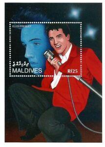 ELVIS PRESLEY, KING OF ROCK AND ROLL, MALDIVES ,STAMP, MINI SHEET, SHEETLET MNH.