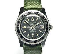 Vintage Sicura Breitling  SUPERWATERPROOF  38mm  Diver & Worldtimer  Watch  400m