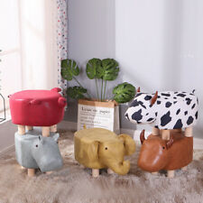 Animal Shape Ottomans Footstools Leather Soft Padded Cushion Home Pouffe Stool