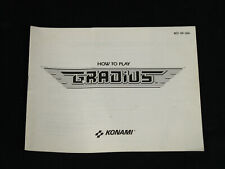Gradius Nintendo NES Instruction Manual Booklet - Original 1986 Konami