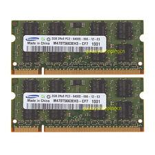 Samsung 4GB 2X 2GB DDR2 800Mhz PC2-6400 200PIN SODIMM Laptop Memory RAM NON-ECC