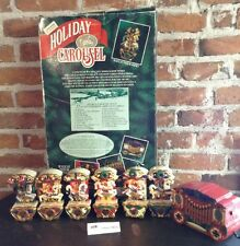 VINTAGE Mr Christmas Animated Holiday Lighted Musical Carousel 6 Horses 21 Songs