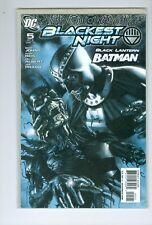 Blackest Night #5 (2010, DC) 1:25 Migliari Variant Batman Black  Lantern