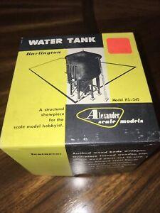 "ALEXANDER SCALE MODELS - ""Burlington Water Tank"" HO scale kit #RS-345 - NIB"