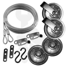 """Garage Door Pulley 3"""" & Safety Cable Guide Complete Kit for Extension Spring"""