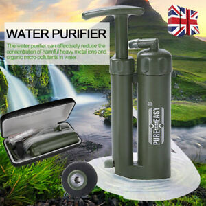 UK Outdoor Camping Hiking Emergency Life Survival Portable Purifier Water Filter