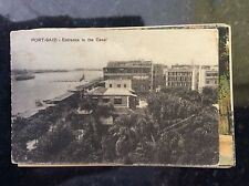 b1c postcard unused port said entrance to the canal  old undated
