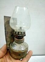Old Vintage Small Kerosene Oil Table/Wall  Lamp Collectible