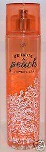 NEW BATH & BODY WORKS GEORGIA PEACH SWEET TEA FINE FRAGRANCE MIST SPRAY PERFUME