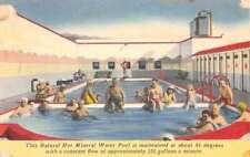 Desert Hot Springs California Mineral Pool Interior Antique Postcard K79798