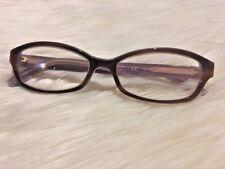 Michael Kors Eyeglasses MK 256 205 Havana Purple 52 mm 16 mm EUC Plastic Brown