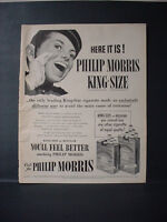 1953 Philip Morris Cigarette Hotel Page Boy Johnny Vintage Print Ad 11086