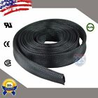 20 FT. 1' Black Expandable Wire Cable Sleeving Sheathing Braided Loom Tubing US
