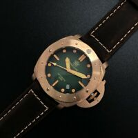 New 00382 Automatic Bronze Watches 500m diving Wrist watch for men NH35 Sapphire