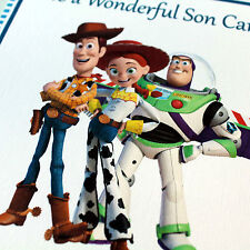 TOY STORY - PERSONALISED Birthday Card Son Brother Nephew Grandson