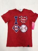 MLB Team Apparel Philadelphia Phillies I Heart Phillies Baseball Girl Sample 7/8