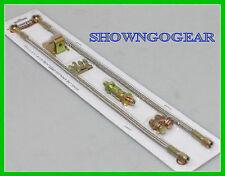 """18"""" STAINLESS STEEL BRAIDED BRAKE HOSE LINE SET 7/16 HOTROD HOLDEN FORD CHEV"""