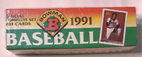 1991 BOWMAN OFFICIAL BASEBALL CARDS COMPLETE SET 704 CARDS ~ FACTORY SEALED ~