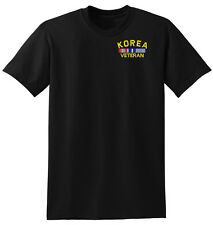Law Enforcement Military KOREA VETERAN ROUND T-SHIRT T SHIRT BLACK