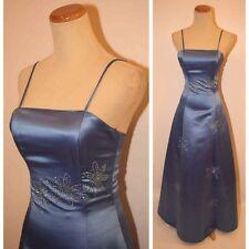 NWT $100 Sleeveless Evening Prom Formal Cruise Long Dress size XS Junior Blue