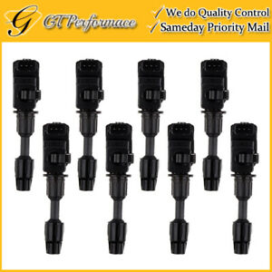 OEM Quality Ignition Coil 8PCS for 1997-2001 Infiniti Q45 4.1L V8, 22448-3H000