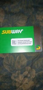 Subway * Used Collectible Gift Card NO VALUE * 0518 w/sticker