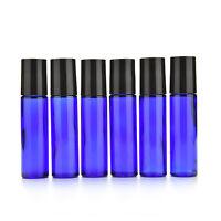 5pcs Bola de Cristal Perfume de perfume vacío Botella de aceite esencial Azul