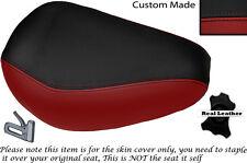 Rojo oscuro y negro Custom Fits Yamaha Virago Xv 250 Frontal De Cuero Funda De Asiento