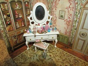 """DOLLHOUSE MINIATURE PERFUME COLLECTION -""""PINK AND BLUE SERENADE""""-OOAK"""