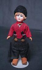 "Antique German Bisque Head Dutch Doll 8"" - 9"" Tall Ernst Heubach 250"