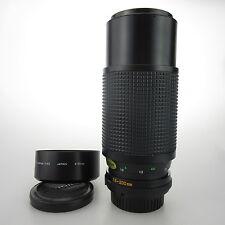 Minolta MDZoom Rokkor 75-200mm 1:4.5 Objektiv / lens + original hood