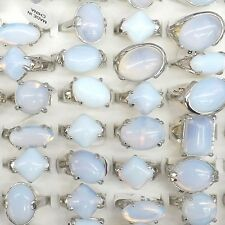 Natural Opal Gemstone Rings For Men Mixed Size 50pcs/lot Wholesale