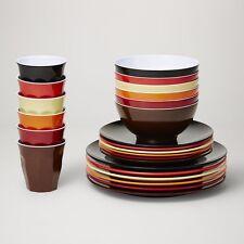 Barel Classic 24 Piece Melamine Dinner Set 'Vintage' - Plates, Bowls & Tumblers