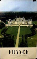 France | Les Chateaux de La Loire Chambord  - Original 1956 Travel Poster